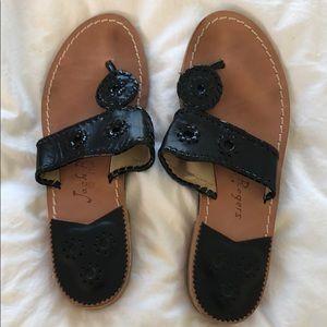 Jack Rogers Black Sandals 8